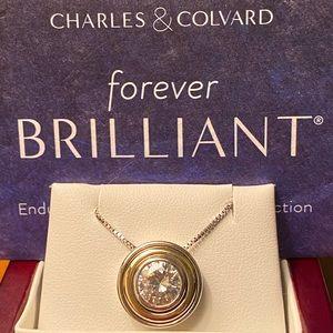 Forever Brilliant Moissanite 2 carat pendant